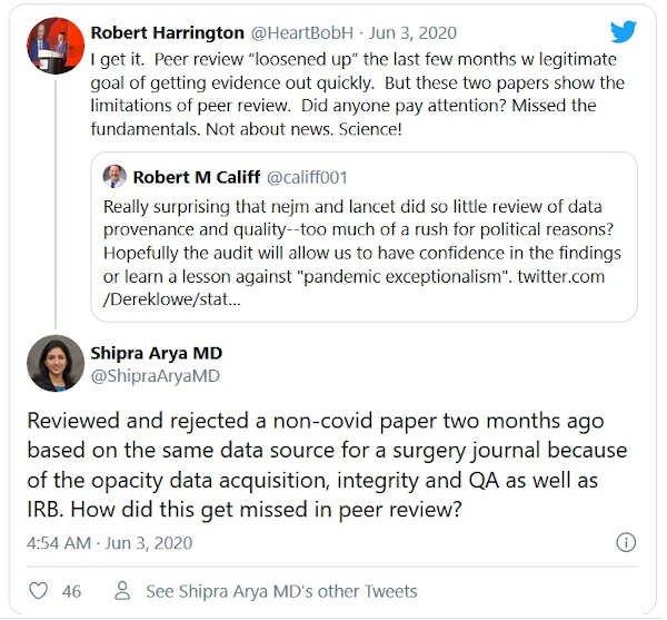 wycofano artykuł na inny temat niż covid, oparty na tym samym źródle danych