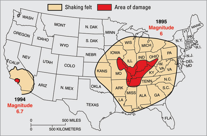 Image showing the New Madrid seismic zone.