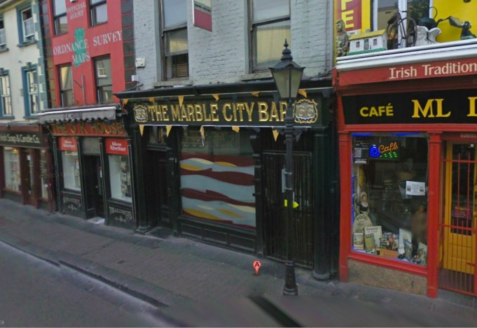 Google Streetview image of the new facade of the pub.