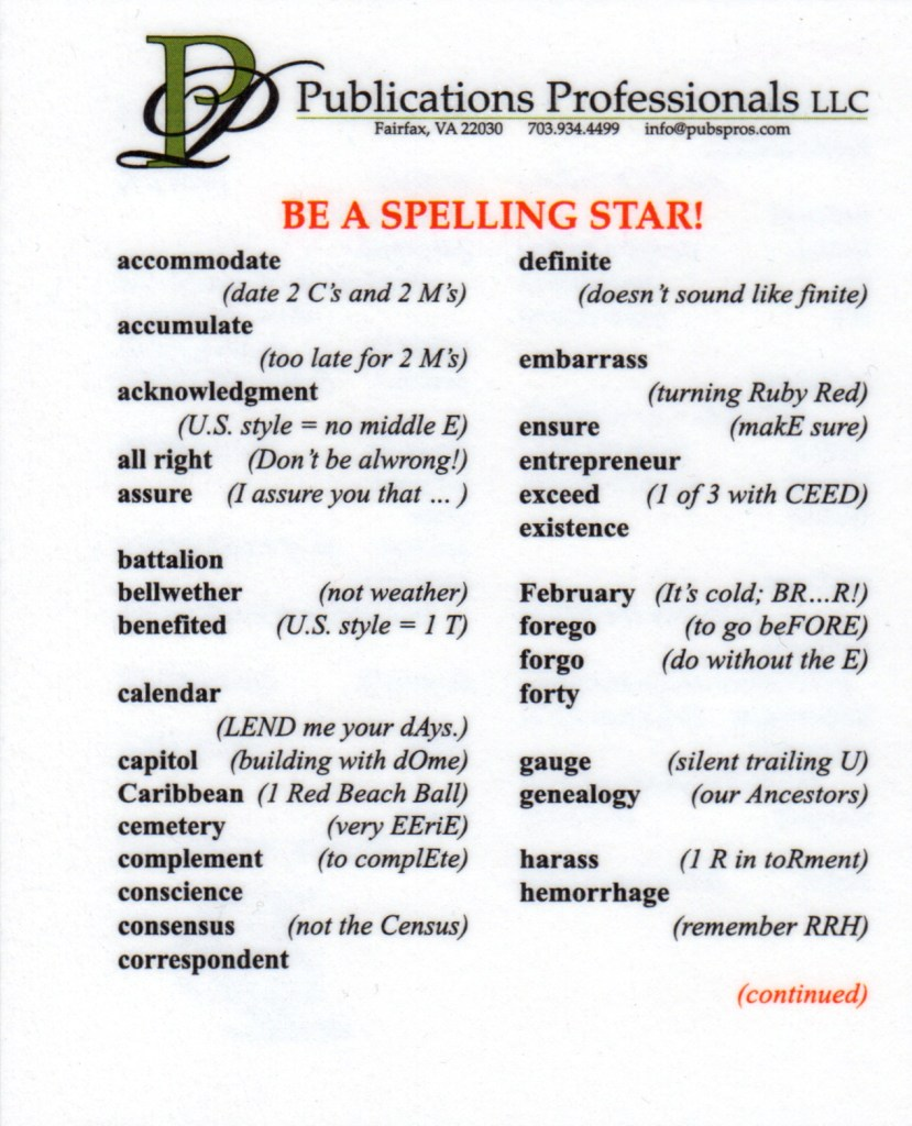 spelling star front