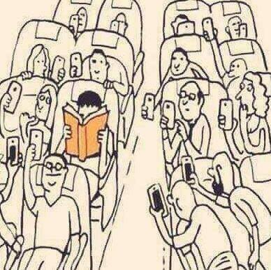 book lover on a plane trip when i travel i take both print and