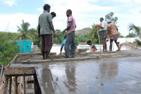 Concrete almost finished pouring!