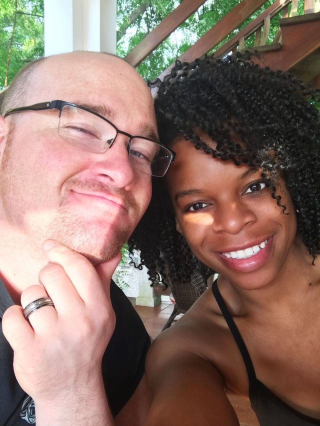 The Hubby and I on our Belize Vacation