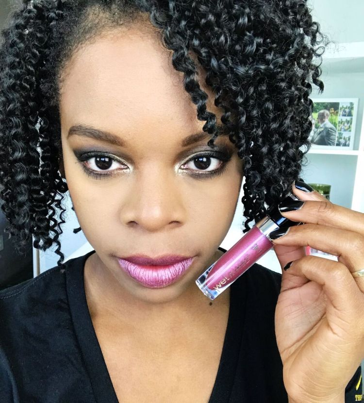 Wet n Wild Liquid Catsuit Metallic Lipstick - Acai So Serious
