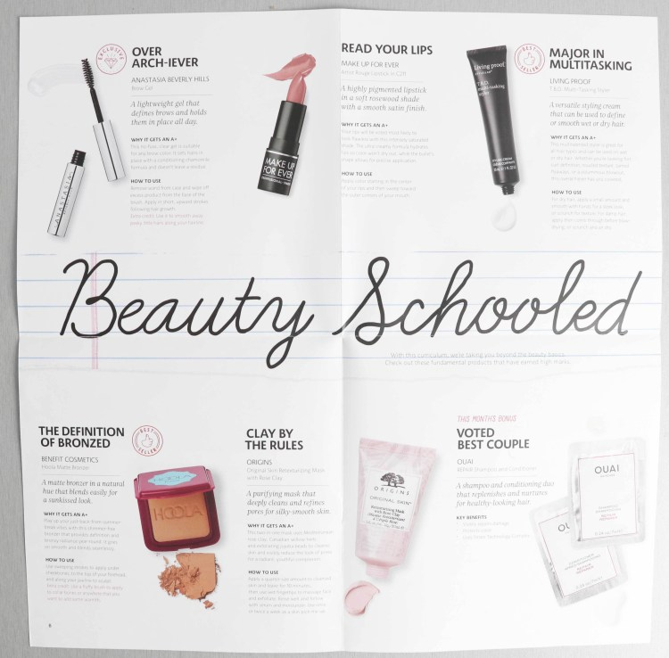 Play by Sephora Beauty Schooled august 2018