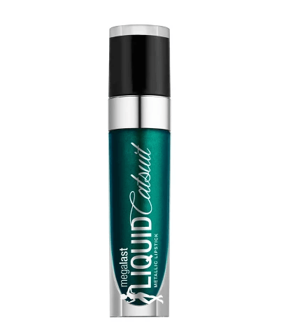 Wet n Wild Fantasy Makers Mega Last Liquid Catsuit Metallic Lipstick Deep Green