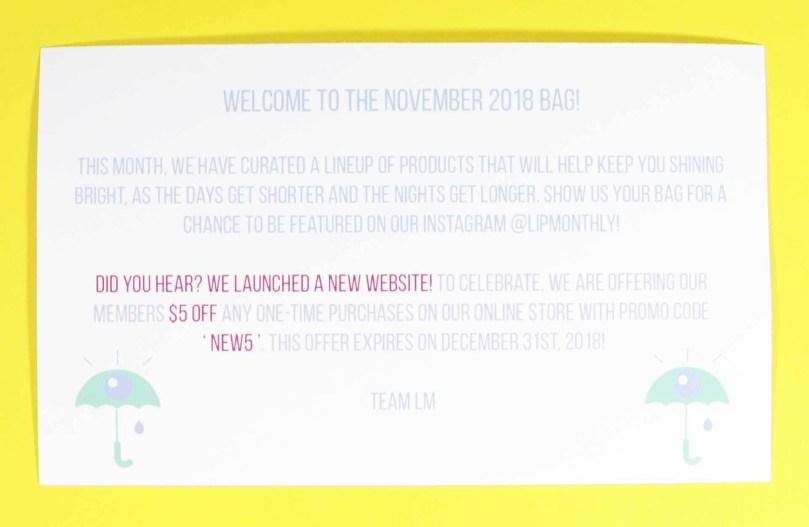 Lip Monthly November 2018