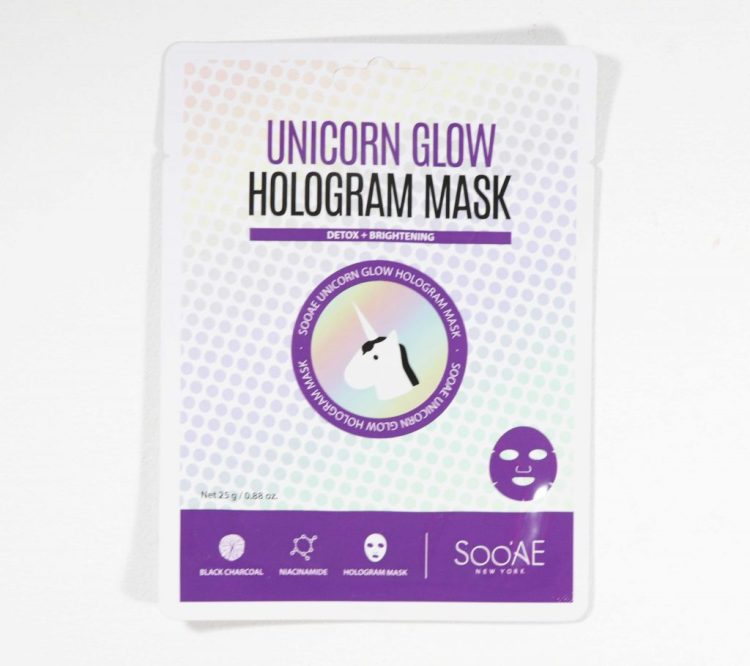 SooAE New York Unicorn Glow Hologram Mask