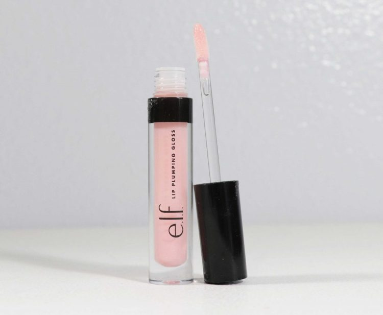 elf lip plumping lip gloss in Pink Cosmo