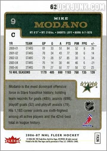 2006-07 Fleer #62 - Mike Modano (back)
