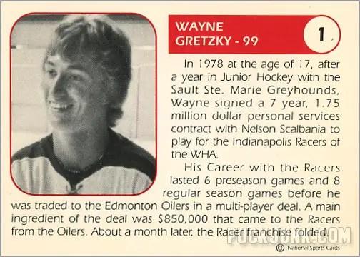 Wayne Gretzky Indianapolis Racers