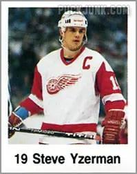 1988-89 Frito Lay Stickers - Steve Yzerman
