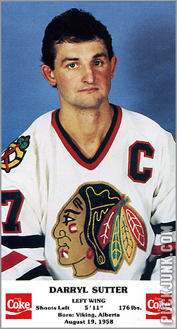 1986-87 Chicago Blackhawks - Darryl Sutter