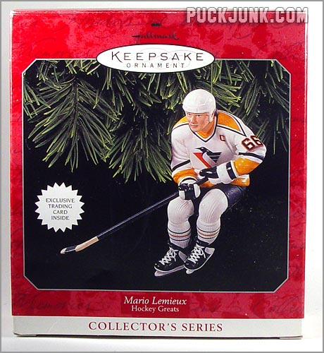 1998 Mario Lemieux Ornament - box front