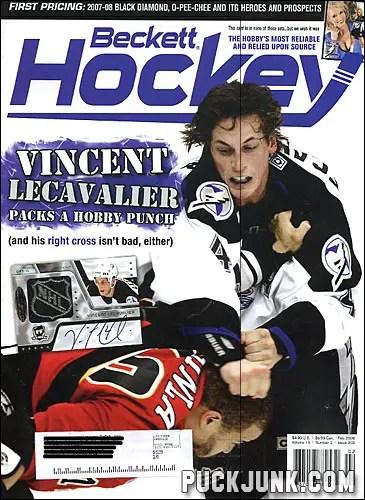 Beckett Hockey Magazine February 2008