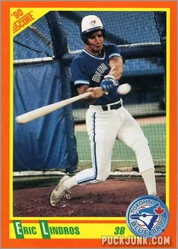Eric Lindros baseball card