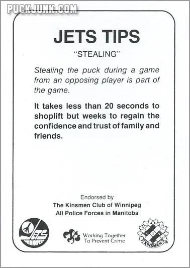 1985-86 Winnipeg Jets - Thomas Steen (back)