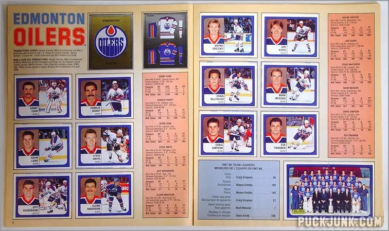 1988-89 Panini Stickers - Edmonton Oilers