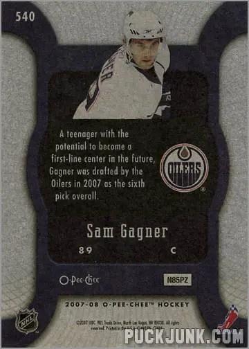 2007-08 O-Pee-Chee #540 - Sam Gagner (back)