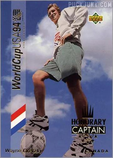 Wayne Gretzky Soccer Card 1993