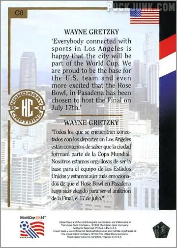 Wayne Gretzky Soccer Card 1994