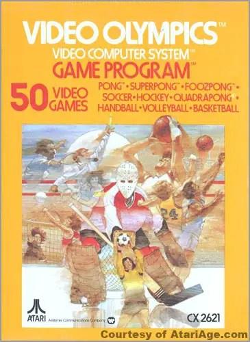 Atari 2600 Video Olympics - box front