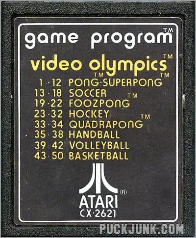 Video Olympics cart #1