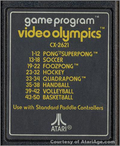 Video Olympics game cartridge version 2