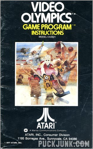 Video Olympics instruction book