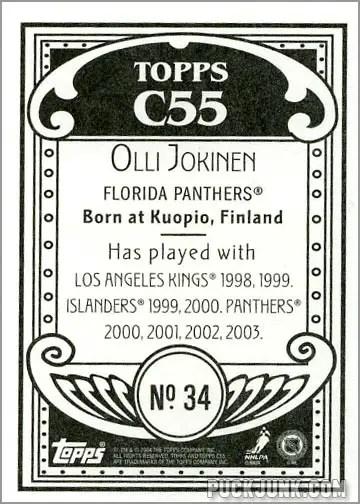 2003-04 Topps C55 #34 - Olli Jokinen (back)