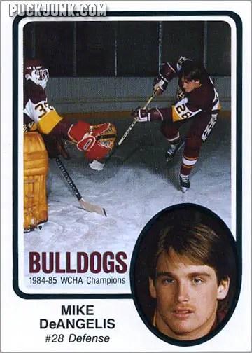 1985-86 UMD Bulldogs #3 - Mike DeAngelis