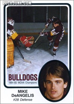 1985-86 UMD Bulldogs #3 - Mike DeAngelis