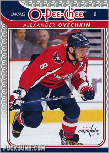 2009-10 OPC #8 - Alexander Ovechkin (front)
