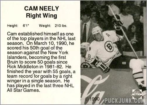 1990-91 Boston Bruins Cam Neely (back)