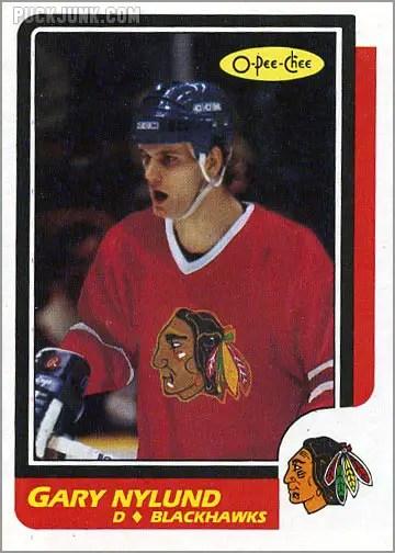 1986-87 O-Pee-Chee card #243 - Gary Nylund