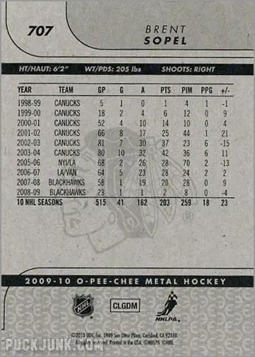 2009-10 OPC Update #707 - Brent Sopel (back)