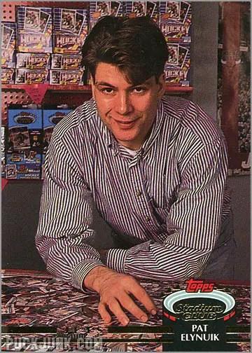 1992-93 Topps Stadium Club card #410 - Pat Elynuik