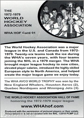2010 WHA Hall of Fame #1 - The Avco World Trophy (back)