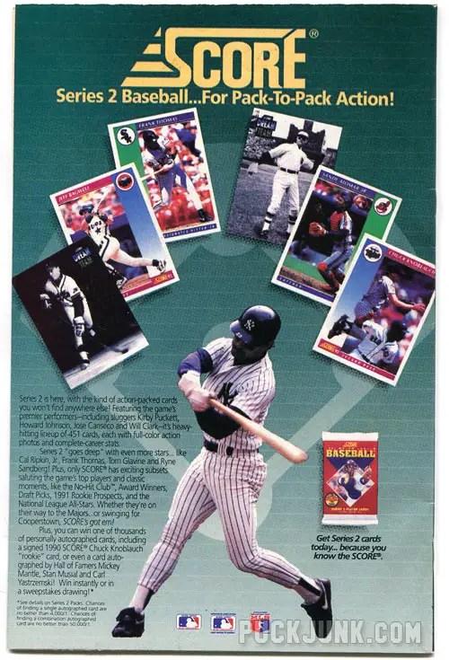 Score Baseball Cards advertisement
