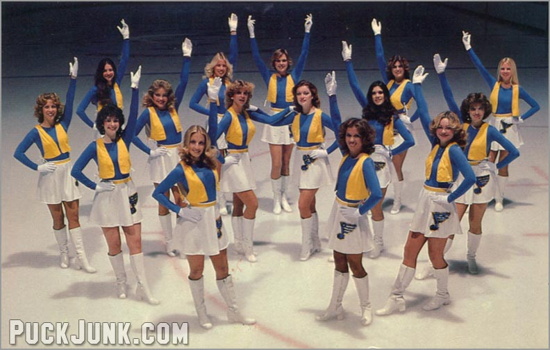 1978-79 St. Louis Blues Postcards - Blue Angels