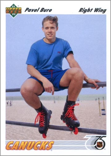 1991-92 Upper Deck card #54 - Pavel Bure