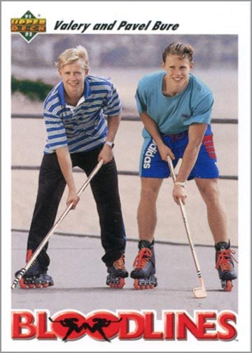 1991-92 Upper Deck card #647 - Bloodlines: Valery and Pavel Bure