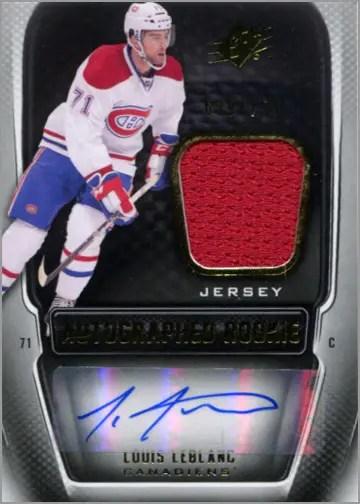 2011-12 SPx #193 - Louis Leblanc (rookie / jersey / autograph)