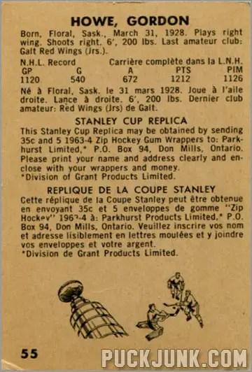 1963-64 Parkhurst #55 - Gordie Howe (back)