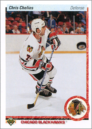 1990-91 Upper Deck #422 - Chris Chelios