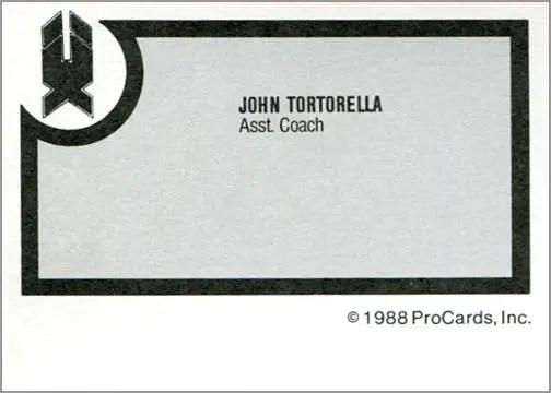 1988-89 ProCards AHL/IHL - John Tortorella (back)
