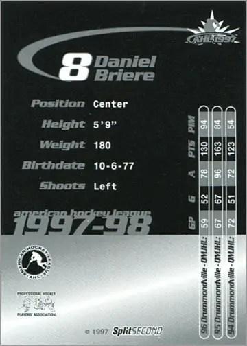 1997-987 Springfield Falcons - Daniel Briere (back)