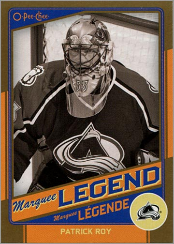 l2012-13 O-Pee-Chee Marquee Legends Gold #G3 - Patrick Roy