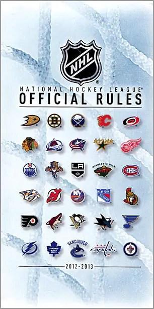NHL Rulebook 2012-13
