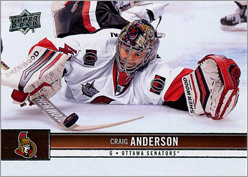 2012-13 Upper Deck #126 - Craig Anderson